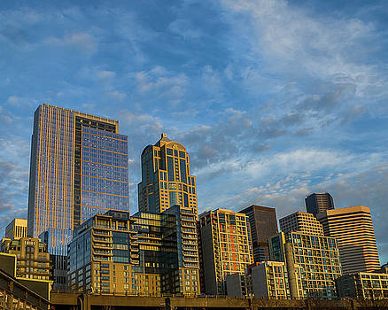 Seattle Skyline by Jerry Cahill