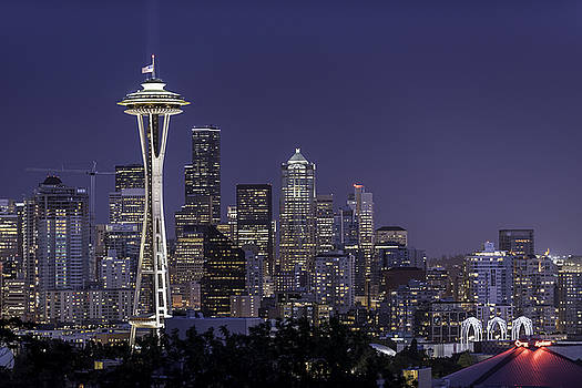 Seattle Skyline by Michael Donahue