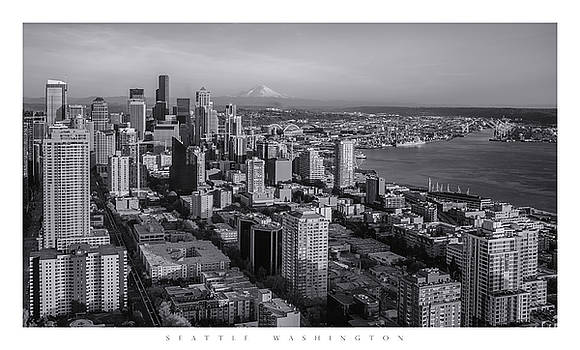 Seattle Skyline Poster by Chad Tracy