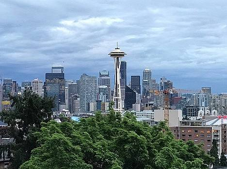 Seattle Skyline by Russell Keating