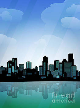 Seattle Skyline by Sandra Hoefer