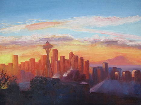 Seattle Sunrise by Maureen Obey