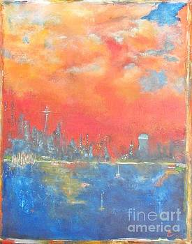 Seattle Sunset by Chaline Ouellet