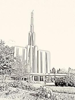 Seattle Temple Sketch by Misty Alger