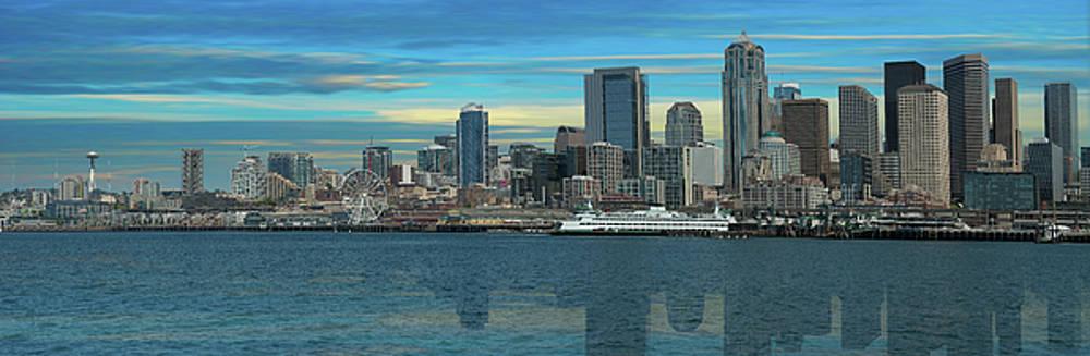 Seattle Washington Skyline by Doug LaRue
