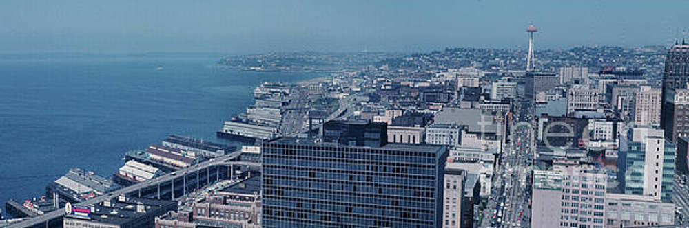 California Views Archives Mr Pat Hathaway Archives - Seattle Waterfront from Smith tower to the Space Needle 1966