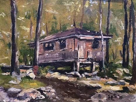 Sebago Campsite- Rustic Cabin by Victor SOTO