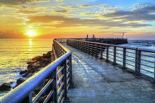 Sebastian Inlet Pier Along Melbourne Beach by Carol Montoya
