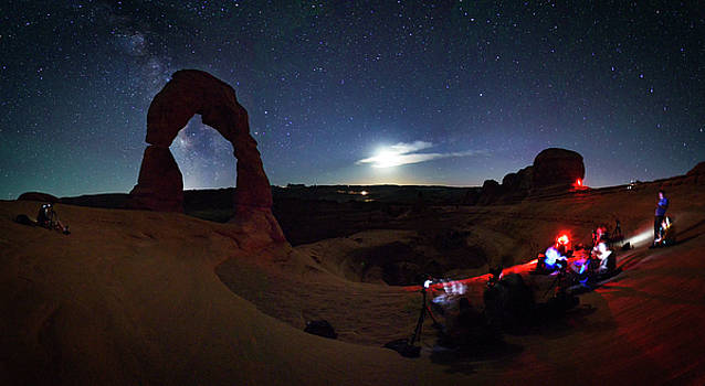 Seclusion At Delicate Arch by Mike Berenson