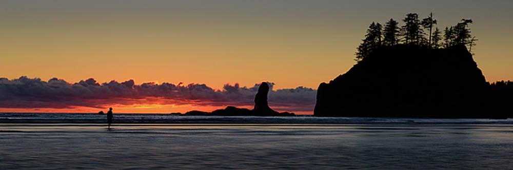 Second Beach Silhouettes by Dan Mihai