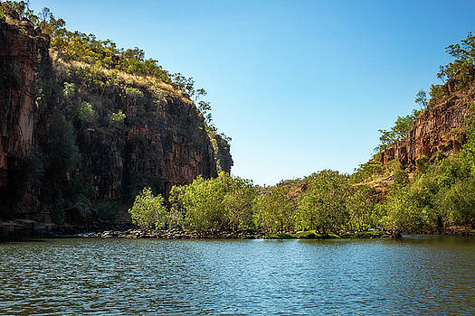Second blockage of the river Katherine Gorge Cruise in Australia by Daniela Constantinescu