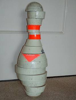 Second View of Reconstructed Bowling Pin  by Kellie Hogben