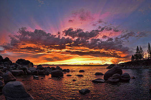 Secret Cove Sunset by Martin Gollery