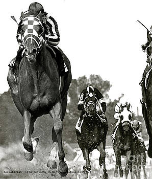 Secretariat, 1973 Kentucky Derby, record time of 1 59 2 5ths by Thomas Pollart