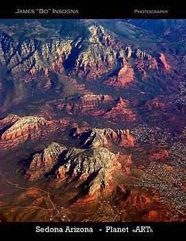 James BO  Insogna - Sedona Arizona Aerial Print