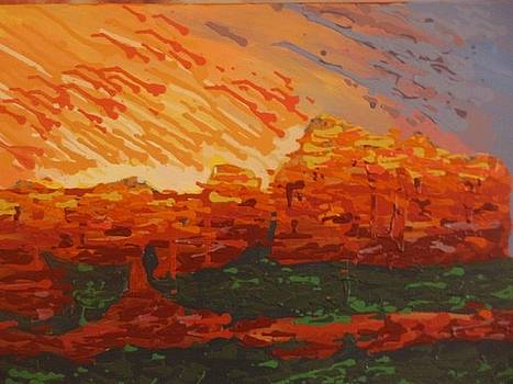Sedona Fire by Samuel Freedman