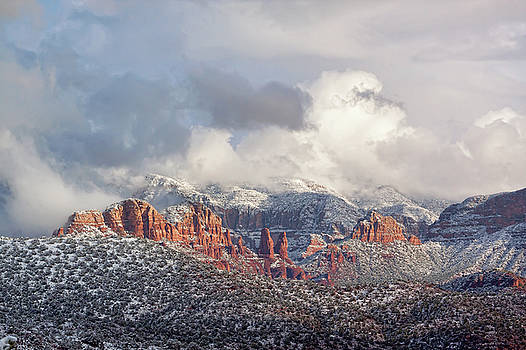 Sedona In Snow by Ryan Seek