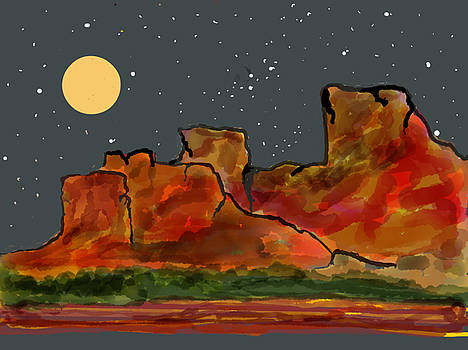 Sedona Night Sky by Phyllis Hollenbeck