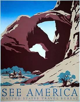 See America, WPA poster,1938 by Vintage Printery