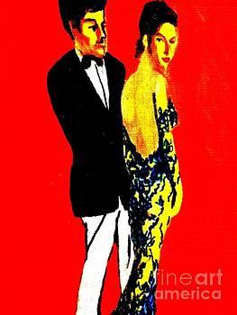 See Thru Blue Gown  by Harry WEISBURD