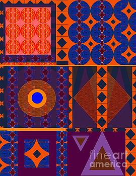 Seeking Unity - In Orange and Purple and Blue by Helena Tiainen