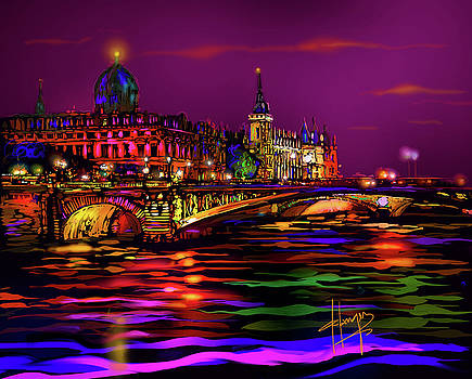 Seine, Paris by DC Langer