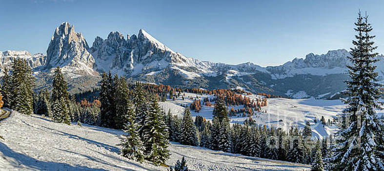 Seiser Alm, Dolomites meadow in winter by IPics Photography