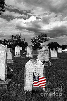 James Brunker - Selected Color Flag for Memorial Day in Uniontown Cemetery Maryland