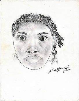 Self Face Portrait by Sabirah Lewis