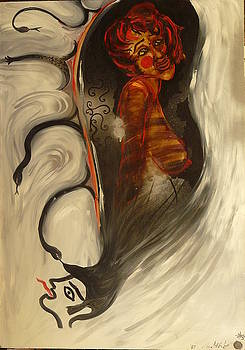 Self Portait in a Mirror by Zsuzsa Sedah Mathe
