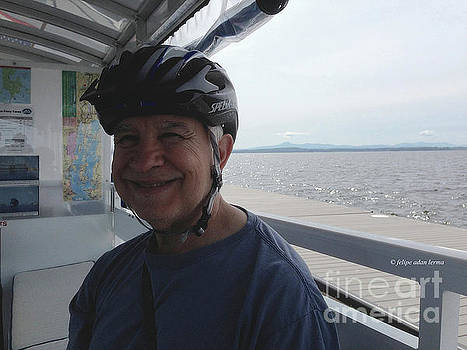Felipe Adan Lerma - Self Portrait 10 - Crossing Lake Champlain Bike Path Gap via the Bike Ferry