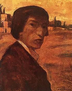 Self Portrait 1903 by Gulacsy Lajos