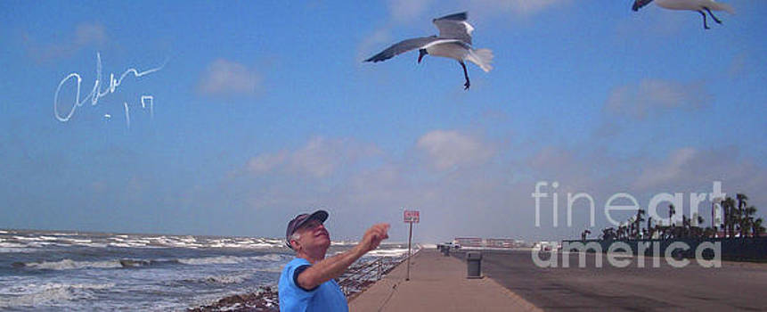 Felipe Adan Lerma - Self Portrait 6 - On Galveston Seawall Circa 2010