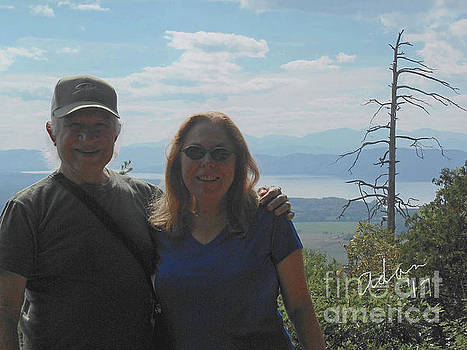 Felipe Adan Lerma - Self Portrait 7 - With Sheila View from Mt Philo Vermont Circa 2016