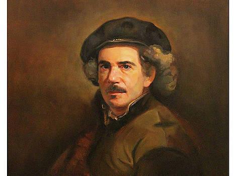 Self Portrait as a 17th Century Artist by Al Torres