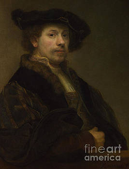 Self Portrait at the Age of Thirty Four by Rembrandt Harmensz van Rijn