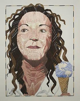 Self-portrait by Barbara Lugge
