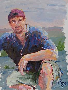 Self Portrait In Acrylic by KC Chapman
