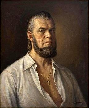 Self Portrait in white shirt by Dionisii Donchev