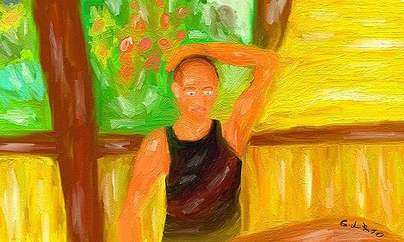 Self-portrait by Lazar Caran