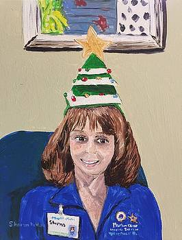 Self Portrait MPH Volunteer at Christmas by Sharon De Vore