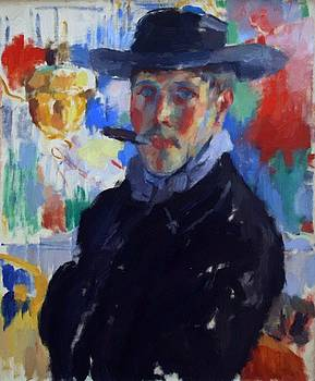Wouters Rik - Self Portrait With Cigar 1914