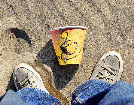 Self-portrait With Coffee Cup by Peter Pfeffer