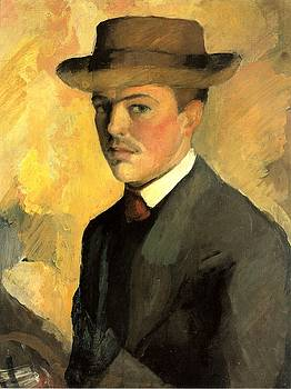 August Macke - Self Portrait With Hat
