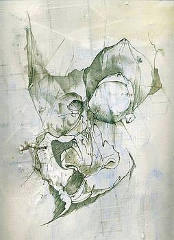 Self-PortraitTorn by Dabrowski Waldemar