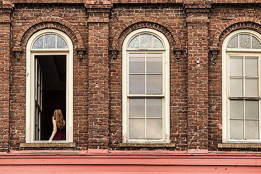 Sharon Popek - Selfie in the Window