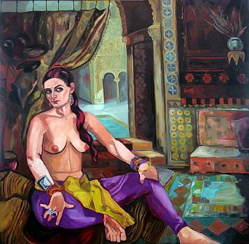 Selfportrait Oriental by Carmen Stanescu Kutzelnig
