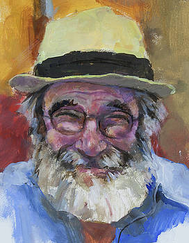 Selfy with a yellow hat by Maxim Komissarchik