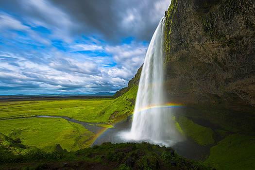 Seljalandfoss Rainbow by Joseph Rossbach