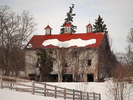 Selma Manor Barn In Winter II by Scott Fracasso